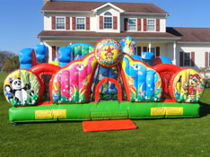 Zoo Animals Bounce House Rental