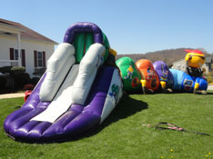 Inflatable Tunnel with Slide